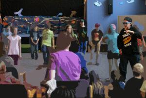 Rap - Veranstaltung innerhalb des Musikunterrichts, Aukamp - Grundschule, 2016